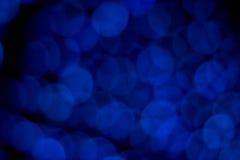 Lumières de bleu de Bokeh Image libre de droits
