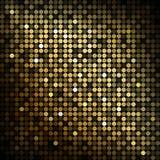 Lumières de disco d'or Photos stock
