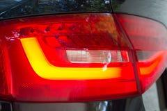 lumières de luxe de queue de voiture Image libre de droits