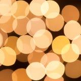 Lumières de Noël abstraites, cercles de bokeh de fond Photographie stock