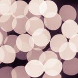 Lumières de Noël abstraites, cercles de bokeh de fond Images stock