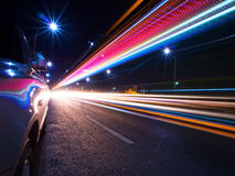 Lumières de queue Image stock