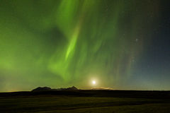 Lumières du nord (aurora borealis) au-dessus de Tromso Photo stock