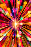 Lumières et étoile de zoom Photos stock