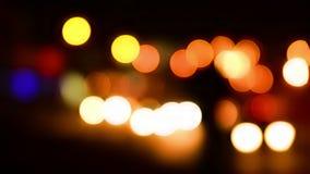 Lumières lumineuses colorées de lueur de vacances banque de vidéos