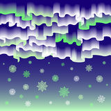 Lumières nordiques Joyeux Noël de fond abstrait de vecteur Images stock