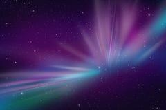 Lumières polaires de l'aurore Photographie stock