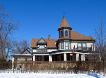 Lumleyhuis in Sneeuw Royalty-vrije Stock Fotografie