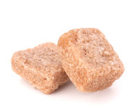 Lump brown cane sugar cubes Stock Image