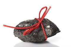 Lump of Christmas Coal Royalty Free Stock Photography