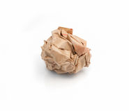 Lump crumpled paper Royalty Free Stock Photography