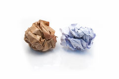 Lump crumpled paper Royalty Free Stock Image