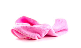 Lump pink towel. On a white background Royalty Free Stock Photography