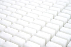 Lump sugar. A plenty of white lump sugar Royalty Free Stock Image