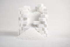 Lump sugar. Close up stock images