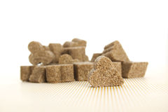 Lump sugar pile Royalty Free Stock Images