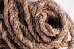 The lump tangled twine, rope. stock image