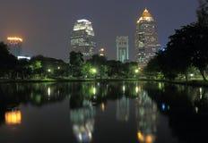 Lumphini Park Bangkok cityscape night Royalty Free Stock Photos