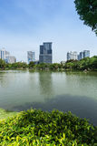 Lumphini Park in Bangkok Royalty Free Stock Images