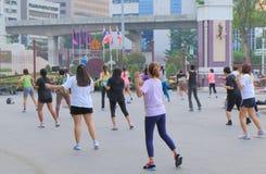 Lumphini Park city lifestyle Bangkok Royalty Free Stock Photo