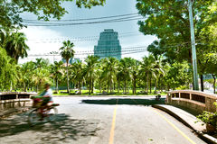 Lumphini park landscape.Asian travels Stock Photos
