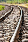 Железная дорога крупного плана в lumphun Таиланде стоковая фотография