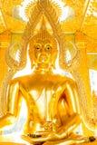 Lumphun Tailandia del phratajhaduang del wat de la estatua de Buda Fotos de archivo libres de regalías