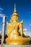 Lumphun Thailand för Buddhawatpharbahthaytum arkivbilder