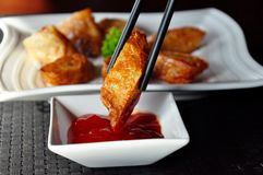 Lumpia ayam. Fried dimsum, oriental food, snack royalty free stock image