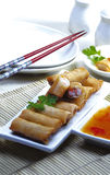 Lumpia - indonesische Nahrung Stockbild