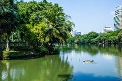 Lumpine park ,. Pond, in the Lumpine park , Bangkok Royalty Free Stock Photo