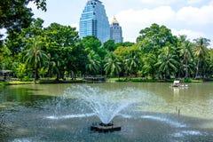 Lumpine park. Pool in lumpine park Bangkok Royalty Free Stock Photo
