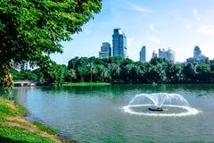 Lumpine park. Pool in lumpini park Bangkok Royalty Free Stock Photography