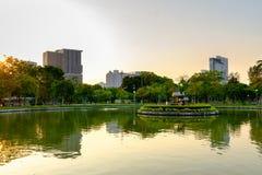 Lumpini公园在曼谷 免版税库存照片