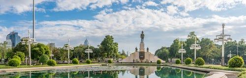 Lumpini公园大门  库存照片