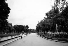 Lumpini公园慢跑者,曼谷 免版税库存照片