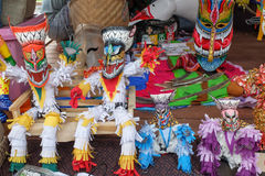 Уникально маска призрака на ежегодном фестивале Lumpini культурном Стоковое Изображение