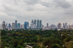 Lumpini City Scape at Bangkok, Thailand Stock Photos