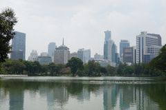 Lumpini park in Bangkok city royalty free stock images