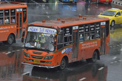 14 Lumpini Park zum Si-Yan Road-Busauto Stockfotos