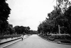 Lumpini parka jogger, Bangkok Zdjęcia Royalty Free