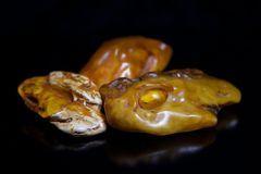 Lumps of Amber Stock Photo