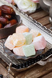 Lumps of Lokum or Turkish Delight Stock Photos