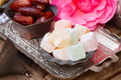 Lumps of Lokum or Turkish Delight Stock Photography