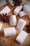 Lumps of white sugar Stock Photography