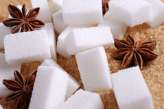 Lumps of white sugar Royalty Free Stock Photography