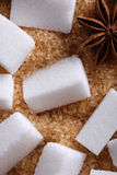 Lumps of white sugar Royalty Free Stock Image