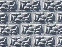 Lumpy Block Pattern. Lumpy block wall great for a fill or background Stock Photos