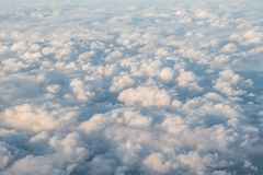 Lumpy Clouds. A sky full of lumpy clouds as seen from above Stock Photography
