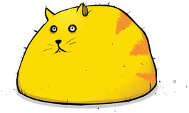 Lumpy Fat Cat Character Illustration Stock Images